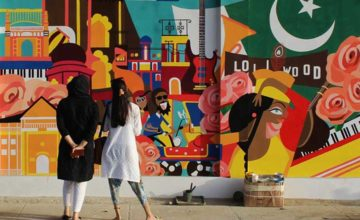 Reclaiming public space in Karachi, wall by painted wall