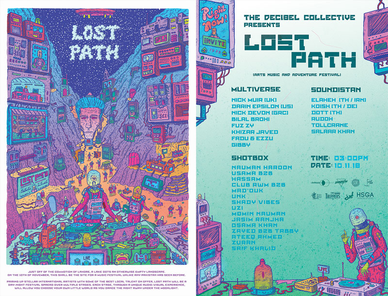 lost path line up poster